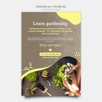 Style d'affiche de passe-temps de jardinage