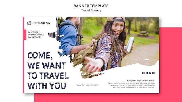 Style de bannière d'agence de voyage
