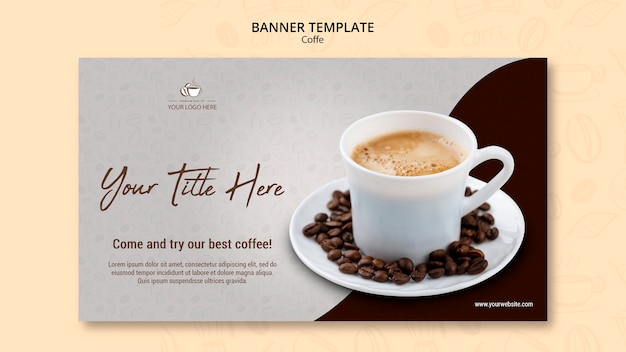 Style de bannière de concept de café
