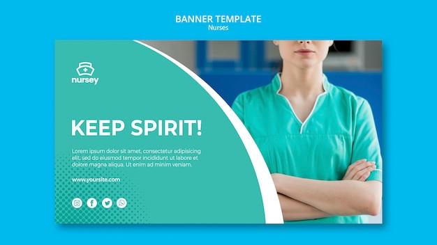 Style de bannière de concept de soins de santé