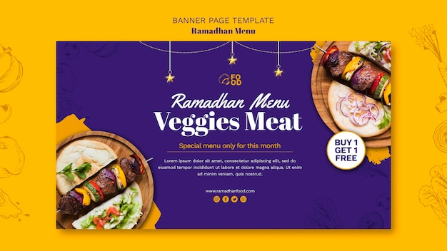 Style de bannière de menu ramadahn