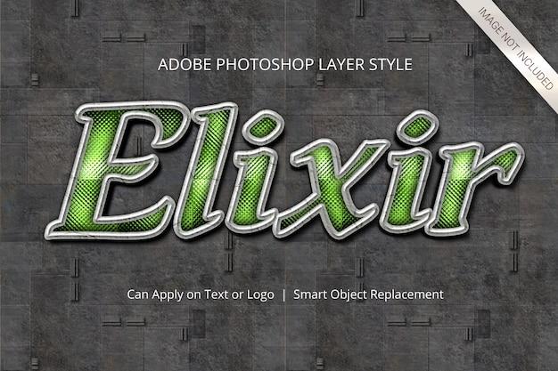 Style de calque d'effet de texte photoshop