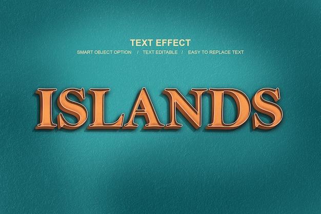 Style de calque des îles