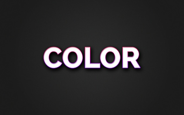 Style d'effet de texte en couleur