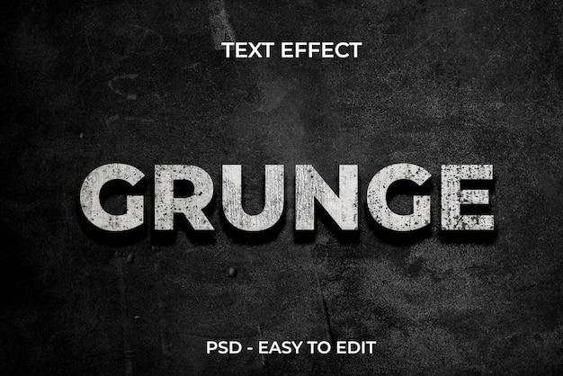 Style d'effet de texte grunge sur fond sombre