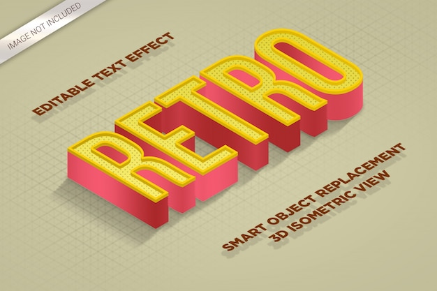 Style d'effet de texte isométrique de la maquette 3d