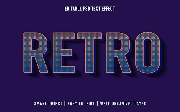 Style d'effet de texte modifiable rétro