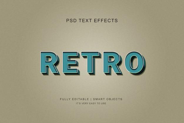 Style d'effet de texte rétro 3d