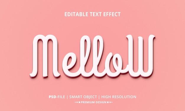 Style d'effets de texte 3d doux et créatif