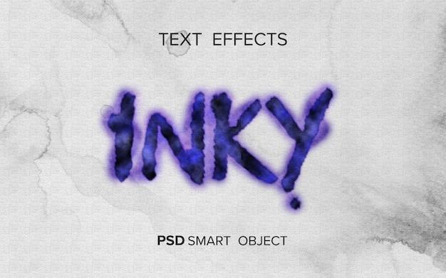 Style d'encre d'écriture d'effet de texte