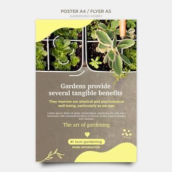 Style de flyer hobby jardinage