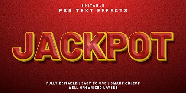 Style de jackpot d'effet de texte modifiable 3d