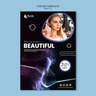 Style de modèle d'affiche concept maquillage