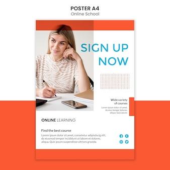 Style de modèle d'affiche d'école en ligne