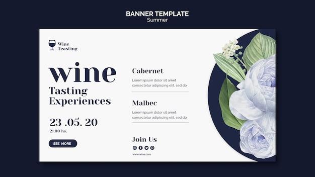 Style de modèle de bannière de dégustation de vin