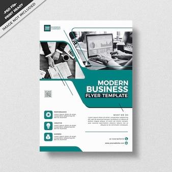 Style de modèle de flyer sarcelle moderne business design