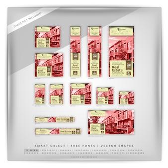 Style rétro immobilier google et facebook