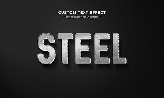 Style de texte 3d en acier