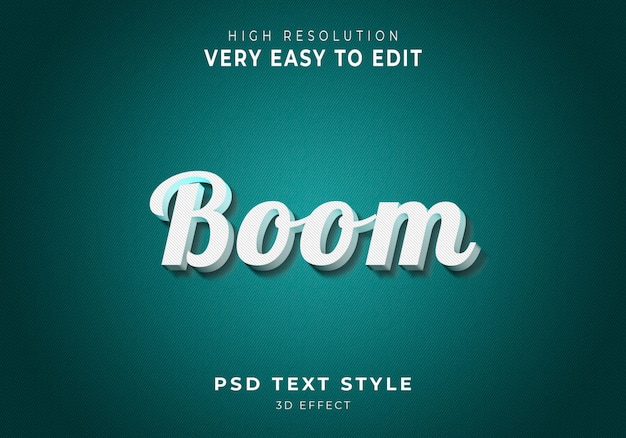 Style de texte 3d boom