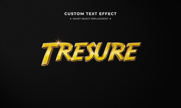 Style de texte 3d doré