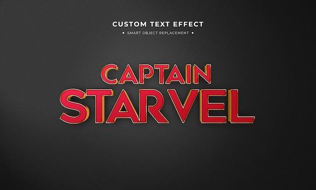 Style de texte 3d de film de super-héros