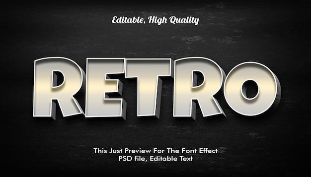 Style de texte 3d rétro