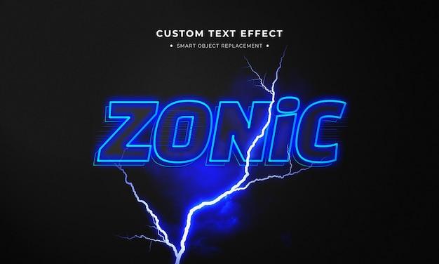 Style de texte 3d zonique