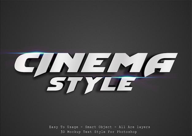 Style de texte cinématographique 3d