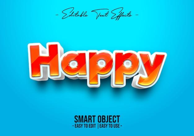 Style de texte heureux