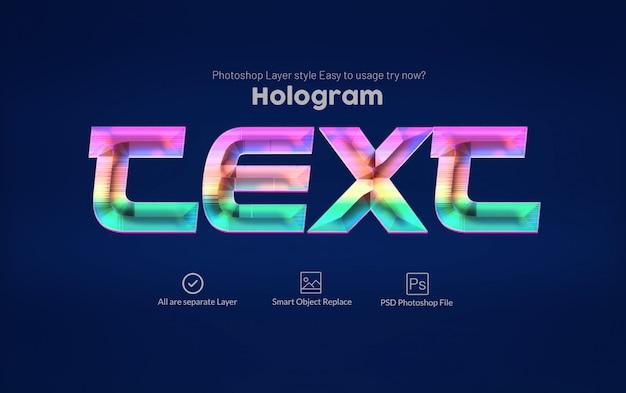 Style de texte holographique