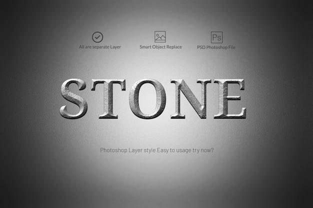 Style de texte en pierre
