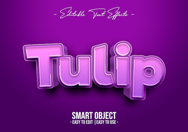 Style de texte de tulipe