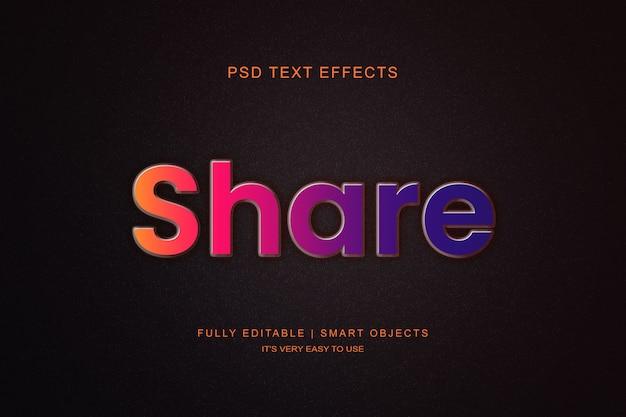Styliste de calque d'effet de texte moderne dégradé