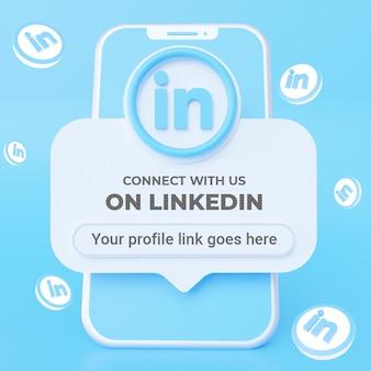 Suivez-nous sur le modèle de bannière carrée de médias sociaux linkedin