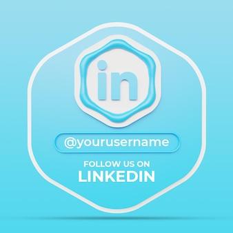Suivez-nous sur le modèle de bannière carrée de profil de médias sociaux linkedin