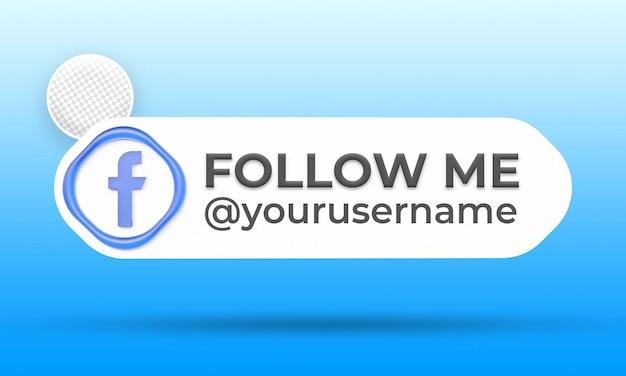 Suivez-nous sur le modèle de bannières du tiers inférieur des médias sociaux facebook