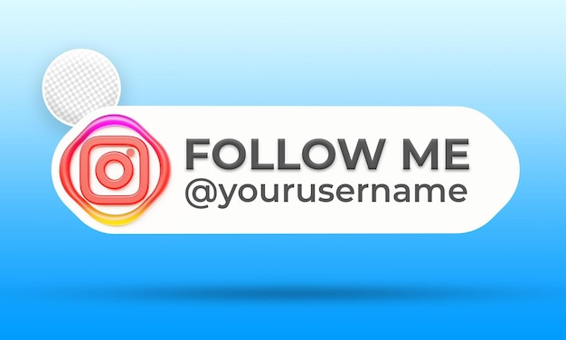 Suivez-nous sur le modèle de bannières du tiers inférieur des médias sociaux instagram
