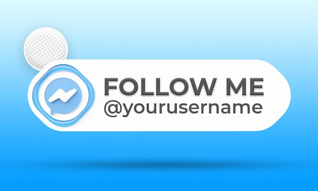 Suivez-nous sur le modèle de bannières du tiers inférieur des médias sociaux messenger