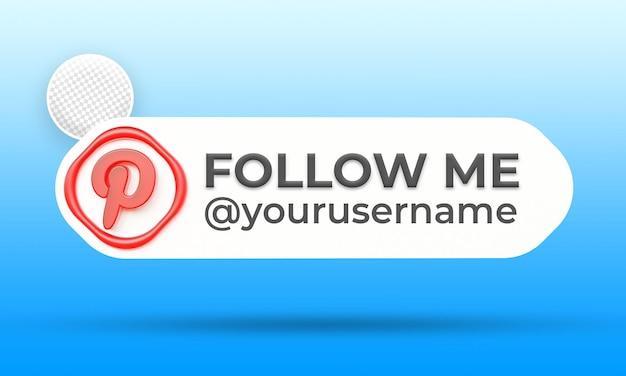 Suivez-nous sur le modèle de bannières du tiers inférieur des médias sociaux pinterest