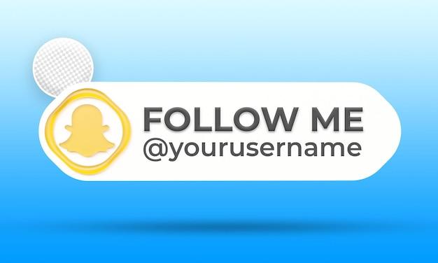 Suivez-nous sur le modèle de bannières du tiers inférieur des médias sociaux snapchat