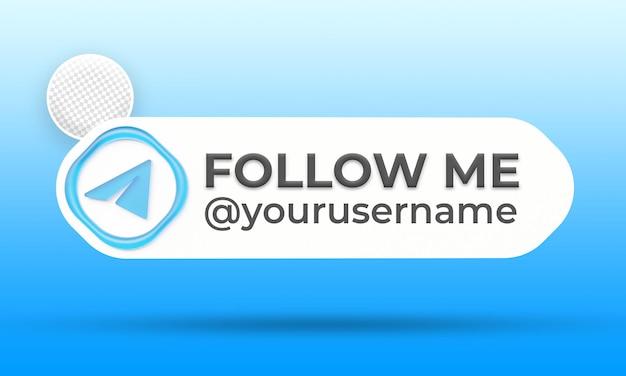 Suivez-nous sur le modèle de bannières du tiers inférieur des médias sociaux de télégramme