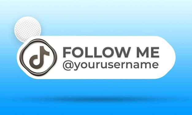 Suivez-nous sur le modèle de bannières du tiers inférieur des médias sociaux tiktok