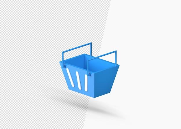 Super marché en plastique deux poignées de rendu 3d