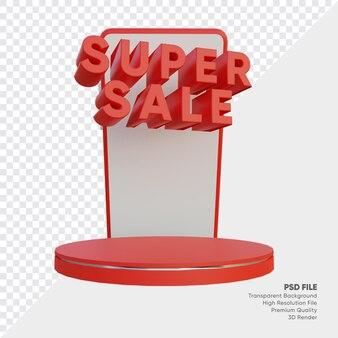 Super vente de la boutique en ligne du podium 3d