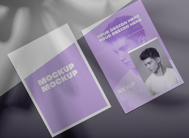 Superposition d'ombre de brochure