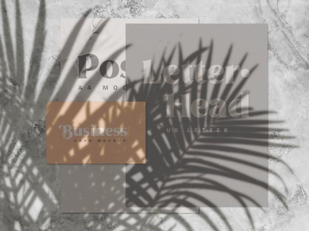 Superposition D'ombres Et Maquette De Papeterie PSD Premium