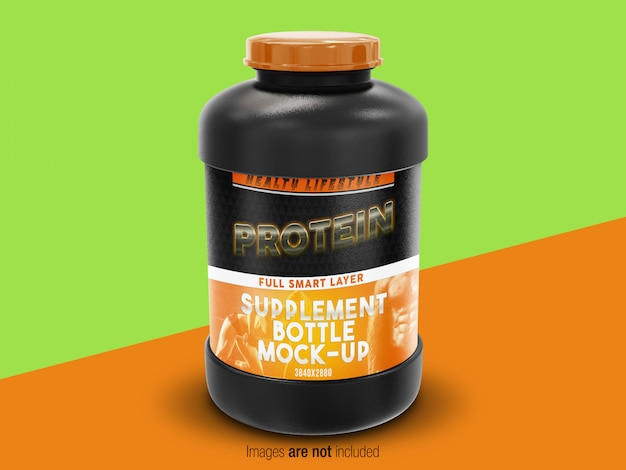 Supplement bottle mock-up perspective vew