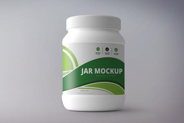 Supplément nutritionnel maquette de bocal