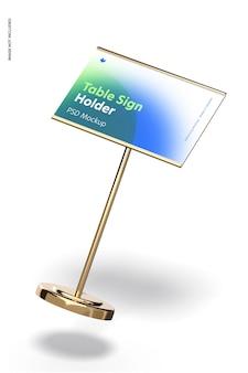 Support de panneau de table maquette de base métallique, tombant