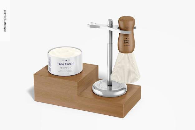 Support de rasage avec maquette de crème